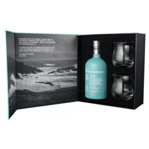 Bruichladdich Classic Laddie Gift Pack - 70cl Bottle with 2 Glasses