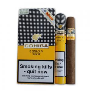Cohiba Siglo IV Tubed Cigar - Pack of 3