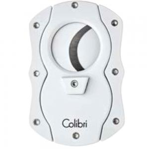 Colibri Coloured Blades Cigar Cutter - White