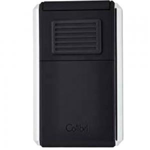 Colibri Astoria Triple Jet Flame Lighter - Matte Black and Silver