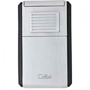Colibri Astoria Triple Jet Flame Lighter - Chrome and Black