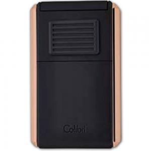 Colibri Astoria Triple Jet Flame Lighter - Matte Black and Rose Gold