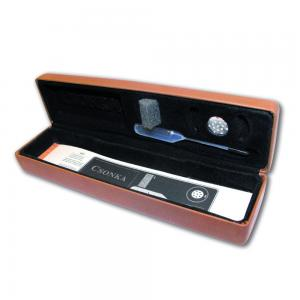 Csonka Travel Cigar Case - Transporter - Tobacco Brown