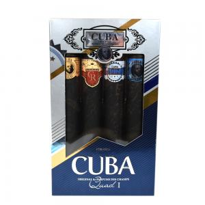 Cuba Quads Mens 4 Piece Cigar Style Aftershave 4 x 35 ml Gift Set - CHRISTMAS GIFT