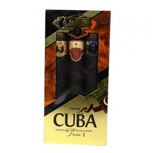 Cuba Mens Trio 3 Piece Cigar Style Aftershave Set 3 x 35 ml Gift Set - CHRISTMAS GIFT