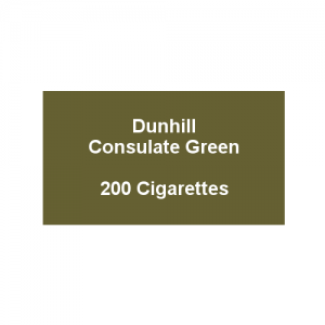 Dunhill Consulate Green King Size - 10 packs of 20 cigarettes (200)
