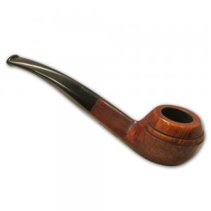 Great British Classic Pipe Smooth Bent Rhodesian