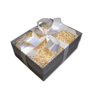 Gift Wrap / Gift Box – Clear Lid – Silver