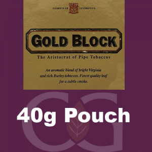 Gold Block Pipe Tobacco 040g Pouch
