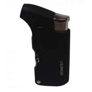 Honest Clyde Cigar Lighter Black Crackle (HON32)
