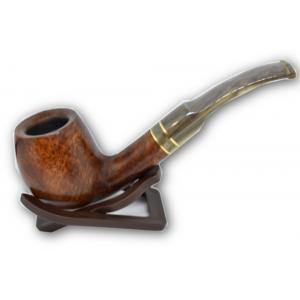 Molina Horn Ring Bent Billiard Brown Pipe