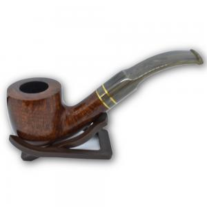 Molina Horn Ring Pot Bent Brown Pipe
