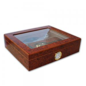 Norfolk Cigar Humidor - Glass top with starter set - 20 cigars capacity