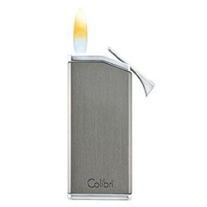 Colibri Delta Soft Flame Cigar Lighter - Gunmetal & Chrome