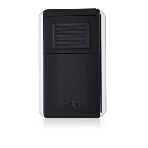 JANUARY SALE - Colibri Astoria Triple Jet Flame Lighter - Brushed Chrome & Black (End of Line)