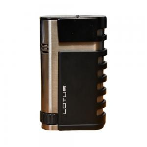 Lotus Mercury Double Torch Lighter - Black