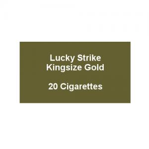 Lucky Strike Kingsize Gold - 1 pack of 20 cigarettes (20)