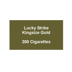 Lucky Strike Kingsize Gold - 10 packs of 20 cigarettes (200)