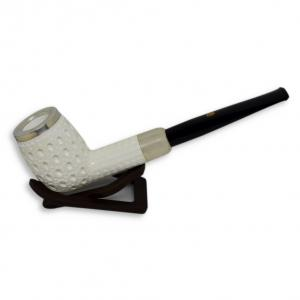 Meerschaum Billiard Silver Cap Straight Pipe (MEER21)