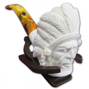 Native American Chief Extra Large Meerschaum Pipe