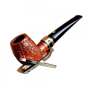 Mastro de Paja Rustic Straight Apple Italian 9mm Pipe (0006)