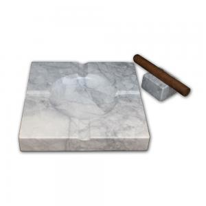 Ashtray and Cigar Stand Set - Natural stone  - Grigio Eclypsia Quartzite
