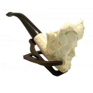 Cavalier With Black Stem Medium Meerschaum Pipe