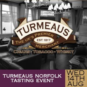 Turmeaus Norfolk Cigar and Spirit Tasting Event - 14/08/19