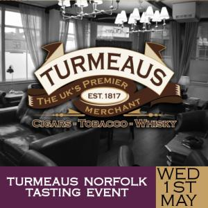 Turmeaus Norfolk Cigar and Spirit Tasting Event - 01/05/19
