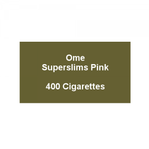 Ome Superslims Pink - 20 packs of 20 cigarettes (400)