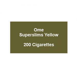 Ome Superslims Yellow  - 10 packs of 20 cigarettes (200)