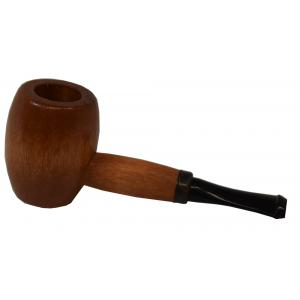 Ozark Mini Maple Missouri Meerschaum Black Stem Pipe