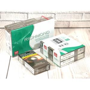 Richmond Green Filter Superkings - 10 Packs of 20 cigarettes (200)