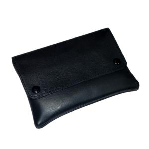 Dr Plumb Genuine Soft Leather Button Wallet Tobacco Pouch