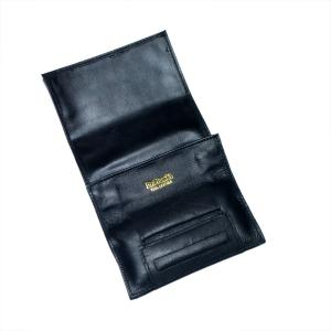 Dr Plumb Leather Roll Up Tobacco Pouch With Cigarette Paper Holder
