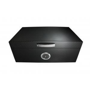 JANUARY SALE - Porsche Carbon Black Large Humidor - 50 Cigar Capacity