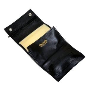 Dr Plumb Black Leather Hand Rolling Tobacco Sifter Pouch and Paper Holder