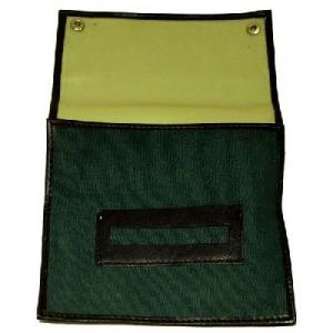 Green Canvas Roll Up With Rubber Lining And Paper Holder