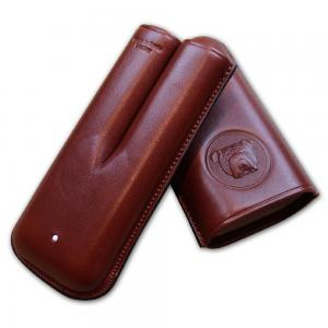 Dunhill Bulldog Cigar Case Robusto - Brown - Fits 2 Cigars