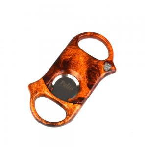 Palio Cigar Cutter - Burl Wood Clear Coat - Up To 60 Ring Gauge