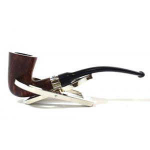 Peterson Calabash Smooth Nickel Mounted Fishtail Pipe (PE1408)