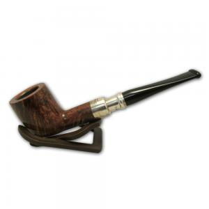 Peterson Spigot Flame Grain Silver Mounted Pipe 006 (PE286)
