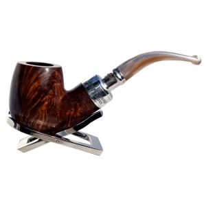 Peterson Flame Grain Spigot Champagne XL90 Silver Mounted Fishtail Pipe (PE662)