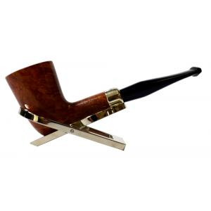 Peterson Amber Spigot Natural D17 Silver Mounted Fishtail Pipe (PE922)