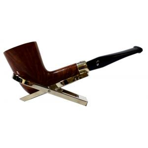 Peterson Amber Spigot Natural D17 Silver Mounted Fishtail Pipe (PE923)