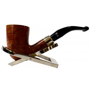 Peterson Amber Spigot Natural D16 Silver Mounted Fishtail Pipe (PE953)