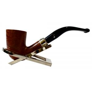 Peterson Amber Spigot Natural D16 Silver Mounted Fishtail Pipe (PE955)