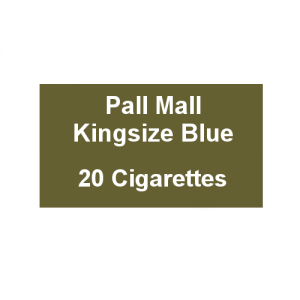 Pall Mall Kingsize Blue - 1 Pack of 20 Cigarettes (20)