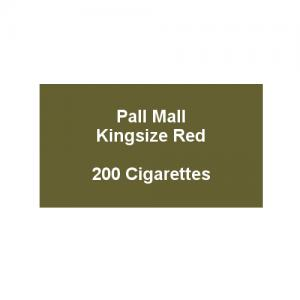 Pall Mall Kingsize Red - 10 Packs of 20 Cigarettes (200)