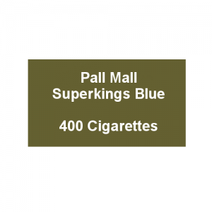 Pall Mall Superkings Blue - 20 Packs of 20 Cigarettes (20)